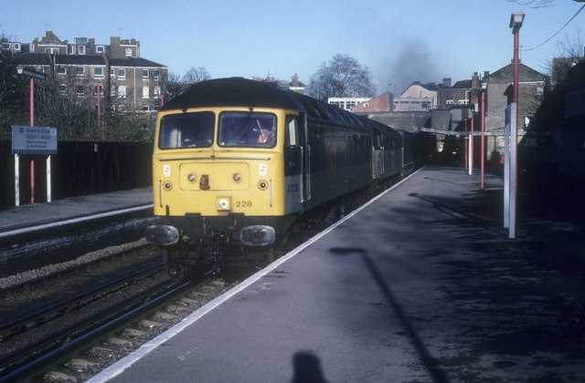 Westbound freight at Highbury and Islington Station