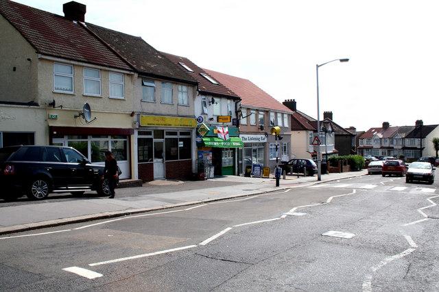 Croydon:  Shops on Tennison Road
