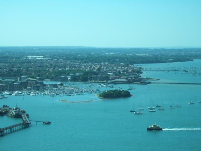 Burrow Island and marina, Gosport from Spinnaker Tower