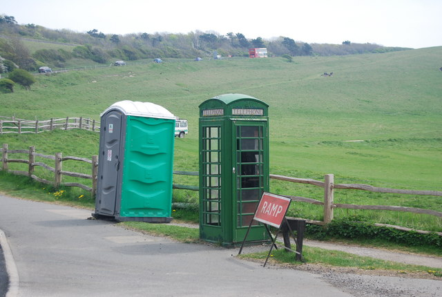 Green Telephone Box, Seven Sisters Country Park