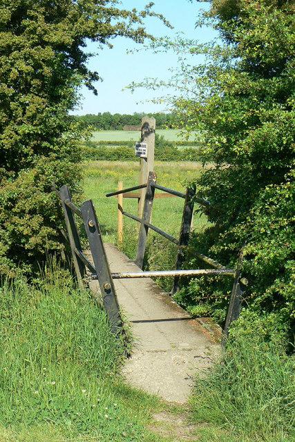 Footbridge over the Erewash