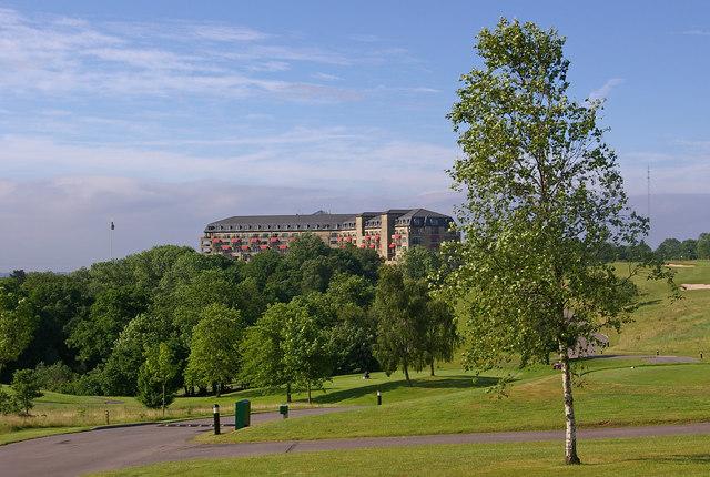 Towards the Resort Hotel, Celtic Manor Resort