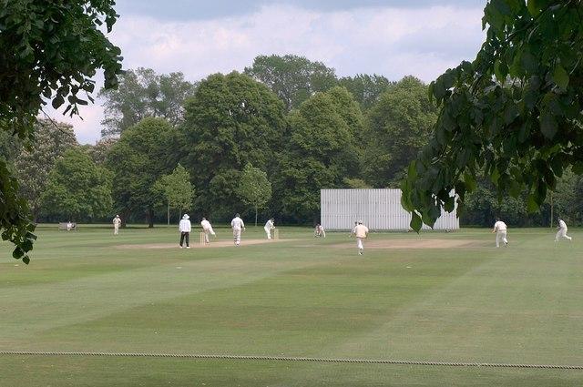 Cricket match, Upper Club