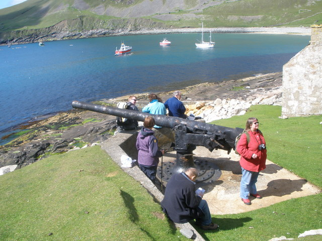 W.W.1 Gun Emplacement on Hirta