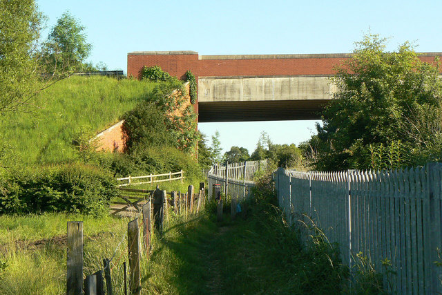 Footpath alongside the railway