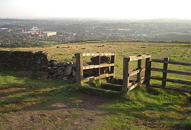 Bridleway stile on Crompton Moor