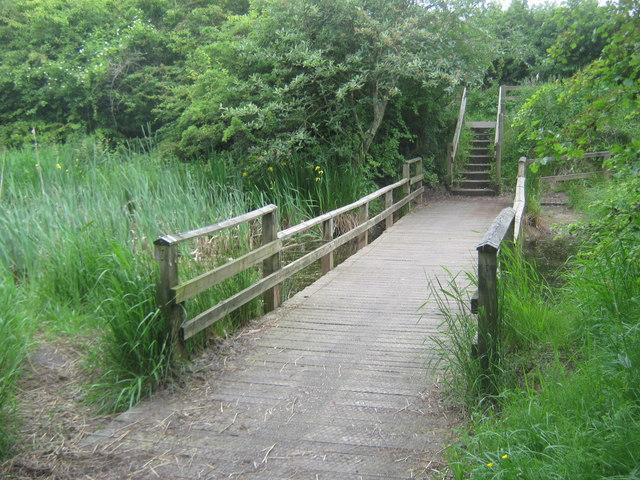 Footbridge at Big Waters Country Park