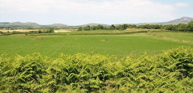 View north across farmland at Yoke House