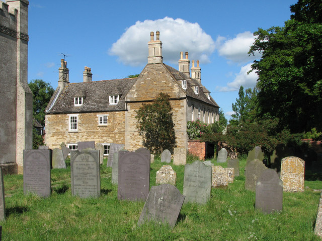 Teigh churchyard and The Old Rectory