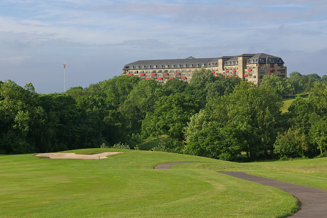 Towards the Resort Hotel, Celtic Manor Resort