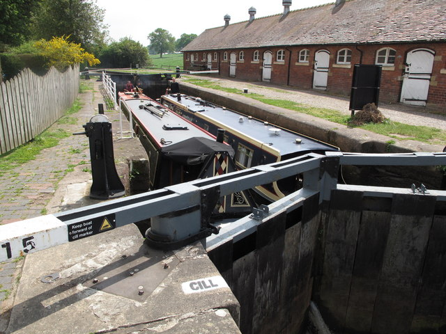 Bunbury Locks on the Shropshire Union Canal
