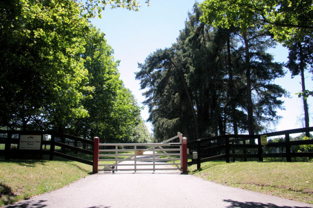 Entrance to Strawberry Hill Stud, Cheveley