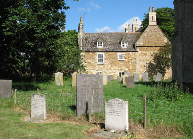 The north side of Teigh churchyard
