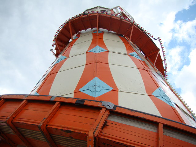 Looking up at the Helter Skelter