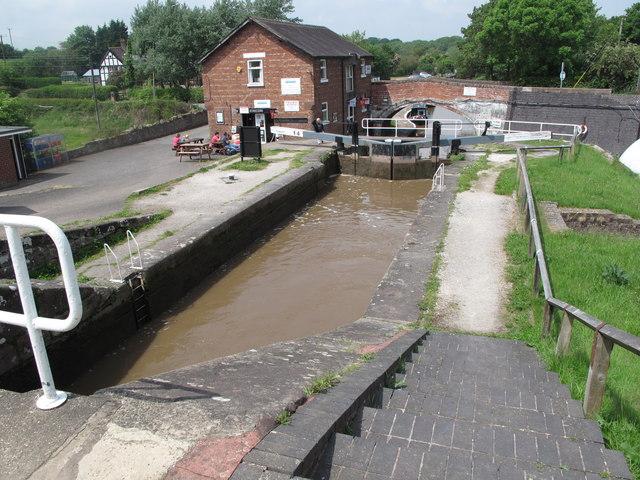 Bunbury Locks on the Shropshire Union Canal