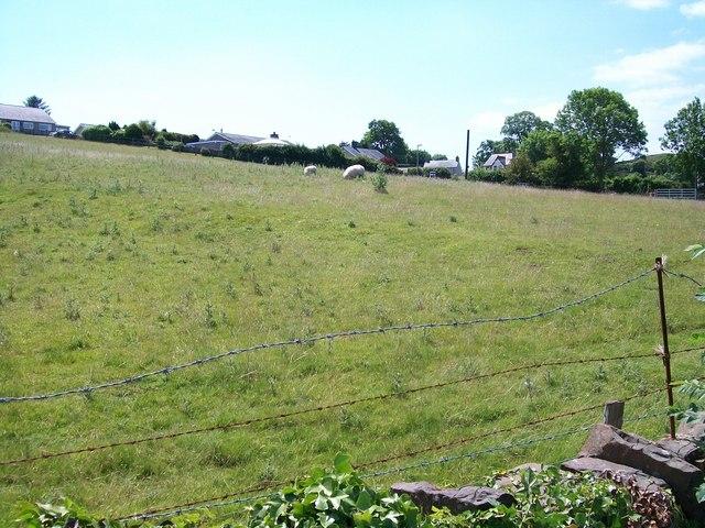 Land rising steeply towards Penrallt