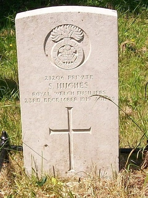 The grave of a Welsh Fusilier