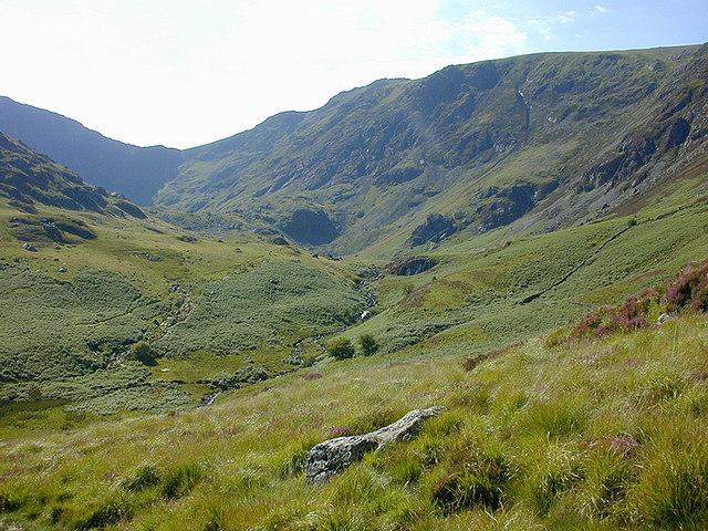Cwm Cau, from the Mynydd Moel path