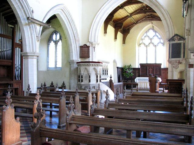 St Andrew's church in Little Massingham - view east