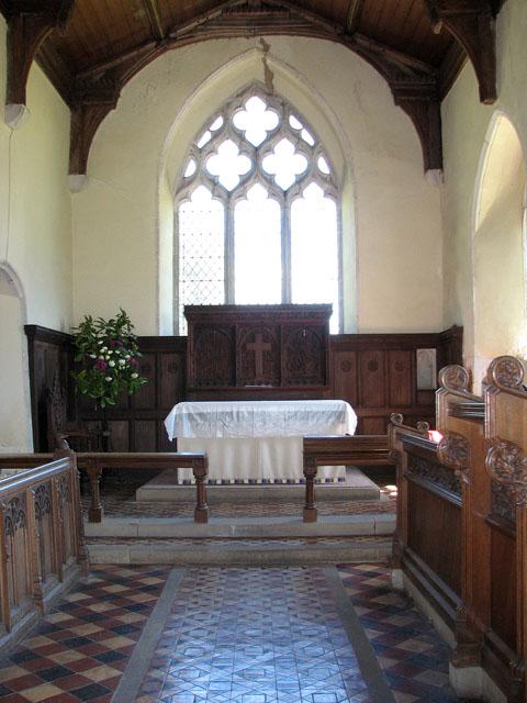 St Andrew's church in Little Massingham - the chancel