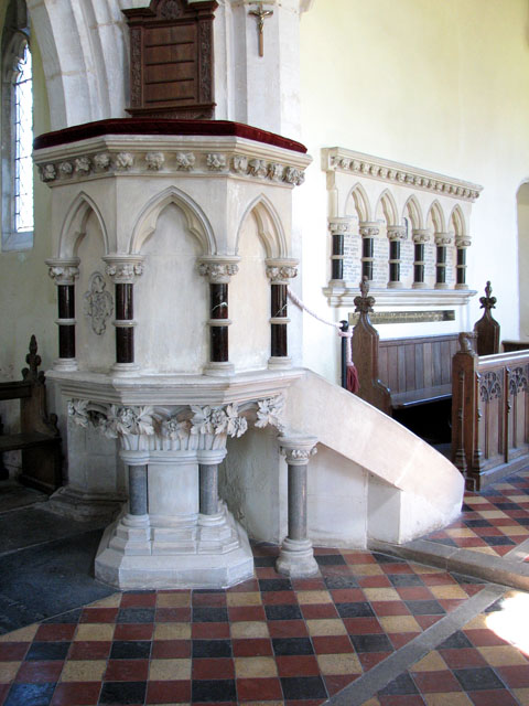 St Andrew's church in Little Massingham - the pulpit