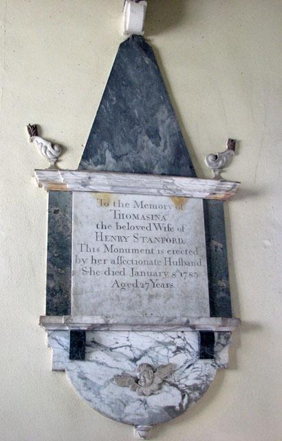 St Andrew's church in Little Massingham - memorial