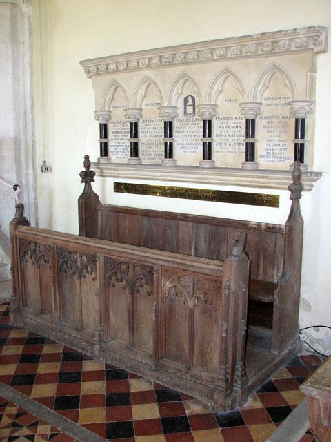 St Andrew's church in Little Massingham - choir stalls