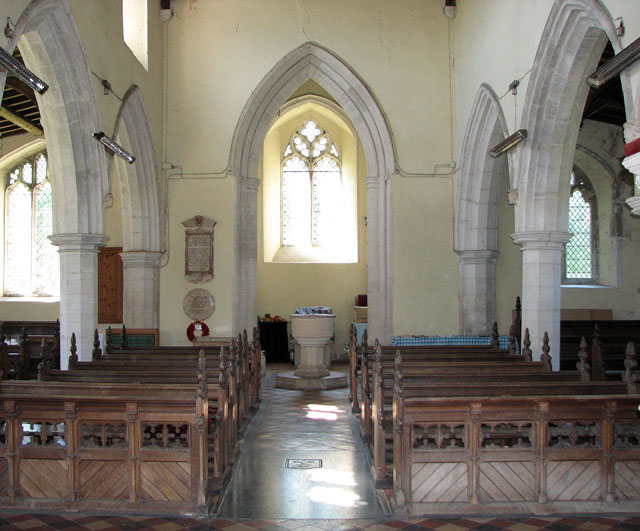 St Andrew's church in Little Massingham - view west