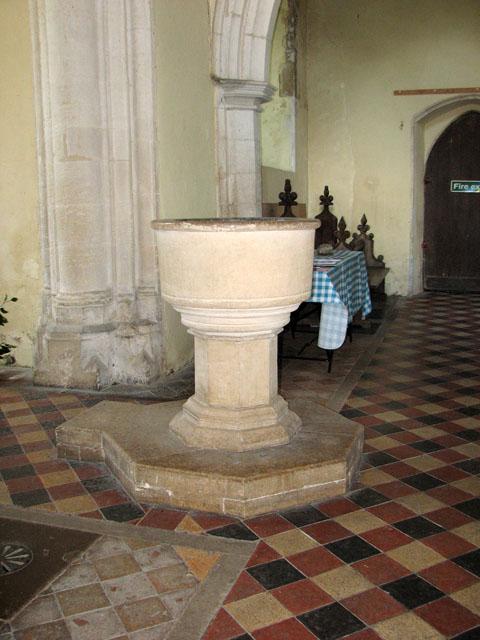 St Andrew's church in Little Massingham - baptismal font
