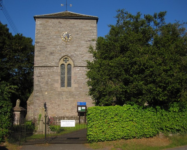 Llyswen: St Gwendoline's Church tower