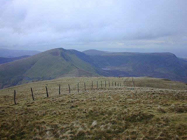 The south west ridge of Tyrrau Mawr