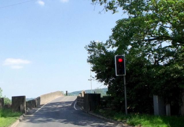 End of bridge, Llandrinio, Powys
