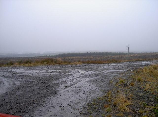 Junction of forestry tracks on Monkside, Kielder