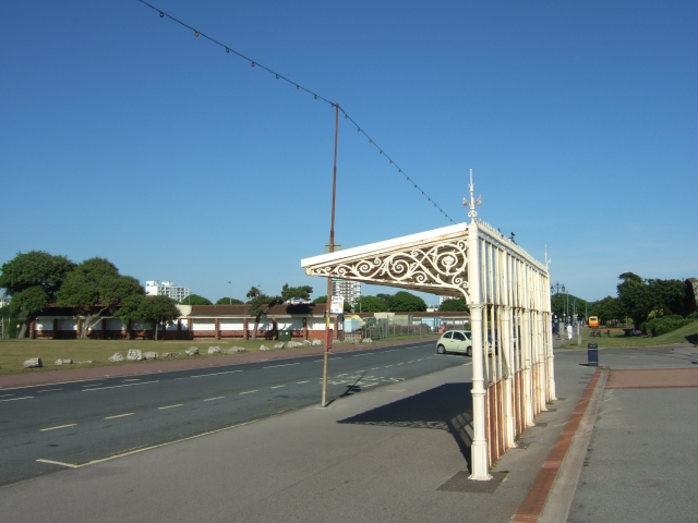 Bus stop with ornate shelter, Southsea