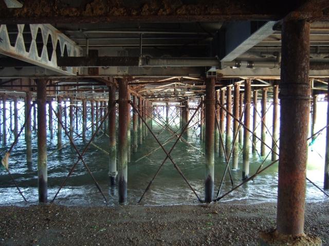 Ironwork under South Parade Pier