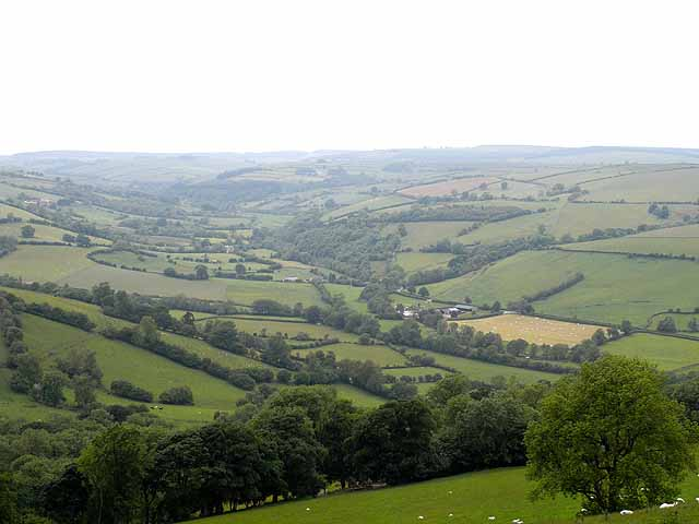 Looking up the Clun valley