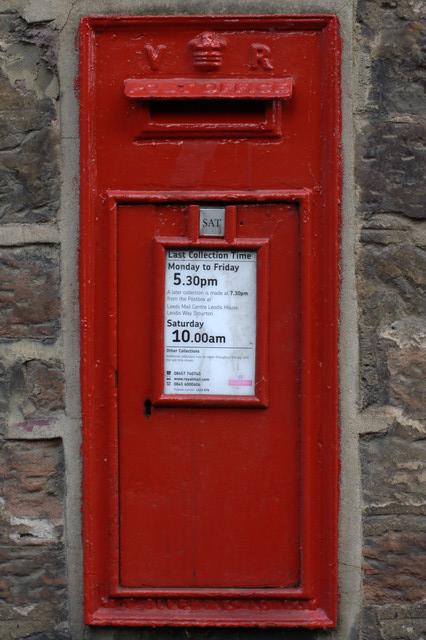 Victorian Postbox, Linton