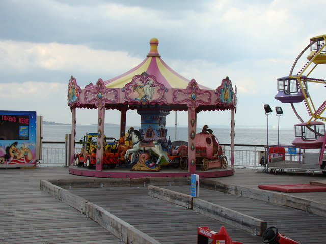 Mini merry-go-round on the end of the pier