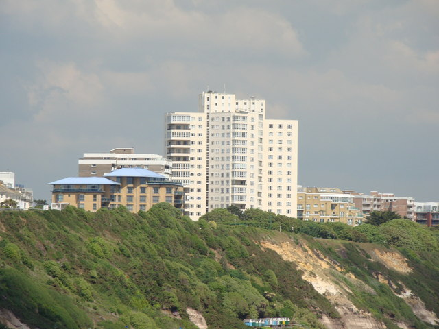 Flats on East Overcliff Drive, viewed from the pier