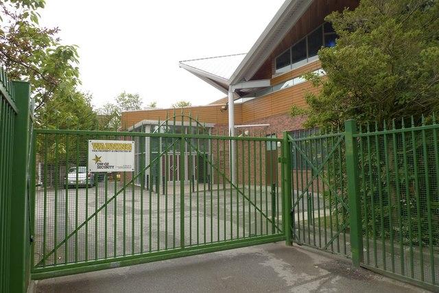 Synagogue entrance, Shay Lane, Hale Barns, Cheshire