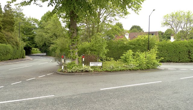 Junction of Broad Lane and Bankhall Lane, Hale Barns