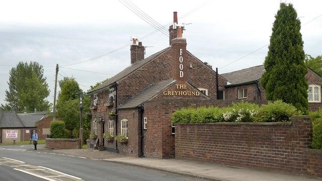 The Greyhound pub at Ashley, Cheshire