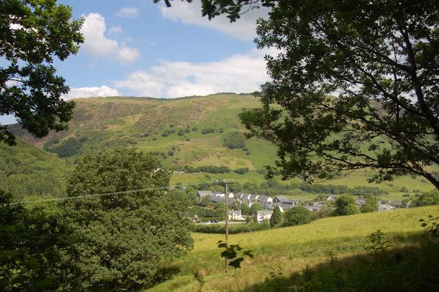 Abergynolwyn nestling in the valley