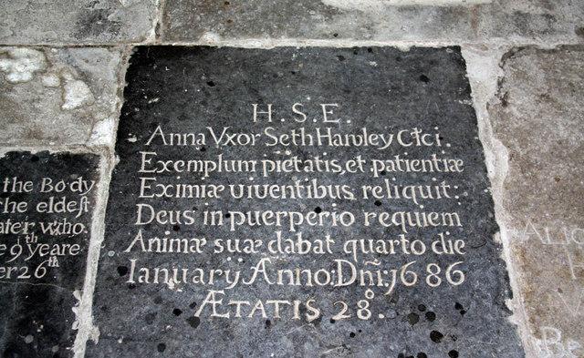 St Peter, West Lynn, Norfolk - Ledger slab