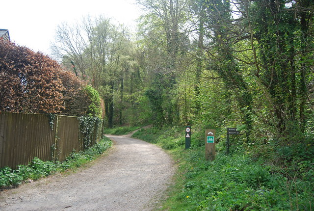 Cycle route, Westdean