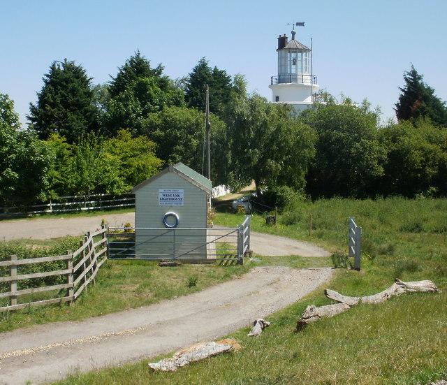 Entrance road to former West Usk Lighthouse