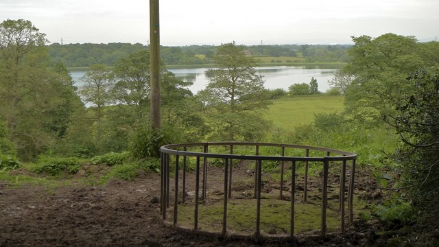 View towards Rostherne Mere nature reserve, Cheshire