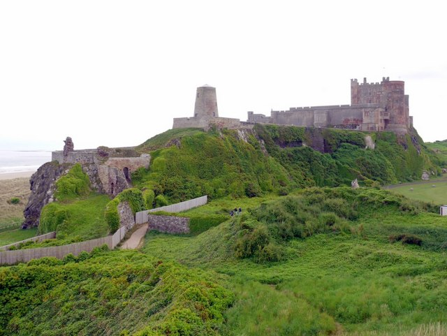 Bamburgh Castle from the north-west