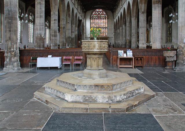 St Nicholas, King's Lynn, Norfolk - Font