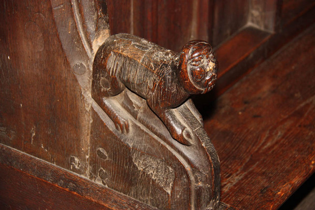 St Nicholas, King's Lynn, Norfolk - Bench elbow